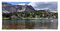 Medicine Bow Peak And Mirror Lake Bath Towel