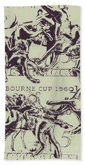 Melbourne Cup 1960 Bath Towel