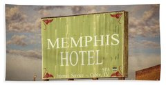 Memphis Hotel Sign Bath Towel