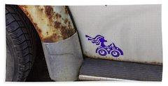 Metal Moth Hand Towel