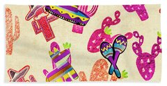 Mexican Mural Hand Towel