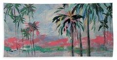 Miami Palms Hand Towel