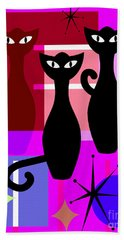 Mid Century Modern Abstract Mcm Bowling Alley Cats 20190113 M103 Bath Towel