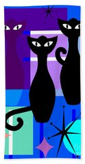 Mid Century Modern Abstract Mcm Bowling Alley Cats 20190113 M180 Bath Towel