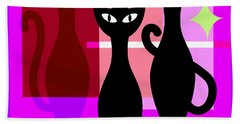 Mid Century Modern Abstract Mcm Bowling Alley Cats 20190113 Square M103 Bath Towel
