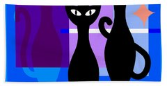 Mid Century Modern Abstract Mcm Bowling Alley Cats 20190113 Square M180 Bath Towel