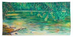 Bath Towel featuring the painting Mid-spring On The New River by Kendall Kessler