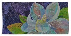 Bath Towel featuring the painting Midnight Magnolia II by Shadia Derbyshire