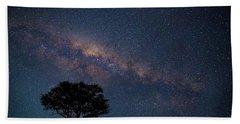 Milky Way Over Africa Hand Towel
