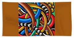 Colorful Abstract Art Painting Chromatic Intuitive Energy Art - Ai P. Nilson Hand Towel