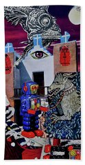 Bath Towel featuring the painting Mind's Eye by Joan Reese