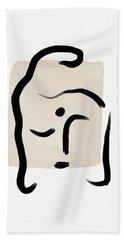 Minimal Buddha 5- Art By Linda Woods Hand Towel