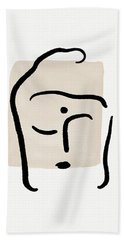 Minimal Buddha 6- Art By Linda Woods Hand Towel