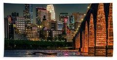 Minneapolis And Stone Arch Bridge Bath Towel