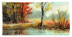 Mirror In The Lake Hand Towel