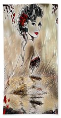 Miss Playful Red Hand Towel