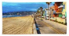 Mission Beach Boardwalk Hand Towel