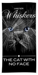 Bath Towel featuring the digital art Mister Whiskers by ISAW Company