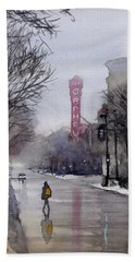Misty Morning On Stae Street Bath Towel