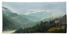Hand Towel featuring the photograph Misty Mountains by Whitney Goodey