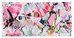 Mixed Media Messages Bath Towel