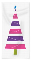 Modern Glam Christmas Tree 1- Art By Linda Woods Hand Towel