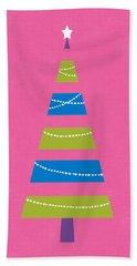 Modern Glam Christmas Tree 2- Art By Linda Woods Hand Towel