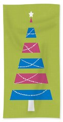 Modern Glam Christmas Tree 3- Art By Linda Woods Hand Towel