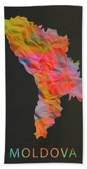 Moldova Tie Dye Country Map Hand Towel