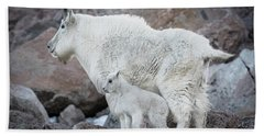 Mom And Baby Mountain Goat Bath Towel