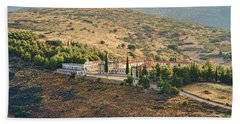 Monastery Agion Anargiron Above Argos Bath Towel