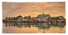 Monhegan Sunrise - Harbor View Hand Towel