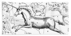 Monoceros, Constellation Of The Unicorn Bath Towel