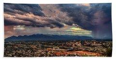 Monsoon Hits Tucson Bath Towel