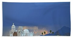 Monsoon Skies Over The Mission Bath Towel