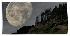 Moon And Beach Hand Towel