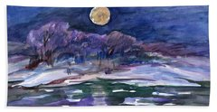 Moon Landscape Bath Towel