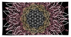 Moon Mandala Bath Towel