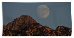 Moon Rise Over Mount Wrightson  Hand Towel