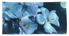 Moonlit Night In The Blooming Garden Hand Towel