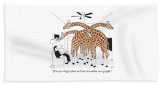 More Giraffes Bath Towel