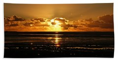 Morecambe Bay Sunset. Hand Towel