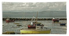 Morecambe. Boats On The Shore. Bath Towel