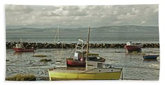 Morecambe. Boats On The Shore. Hand Towel