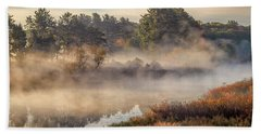 Morning Mist On The Sudbury River Hand Towel