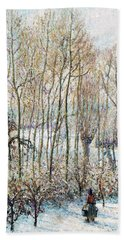 Morning Sunlight On The Snow, Eragny-sur-epte - Digital Remastered Edition Bath Towel