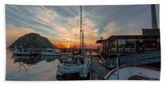 Morro Bay Sunset Hand Towel