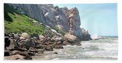 Morro Rock And Ocean Hand Towel