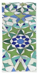Mosaic Exterior Decorations Of The Hassan II Mosque Bath Towel
