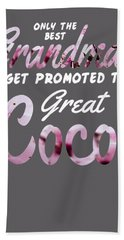 Mother's Day Gift Best Grandmas Get Promoted To Coco Hand Towel